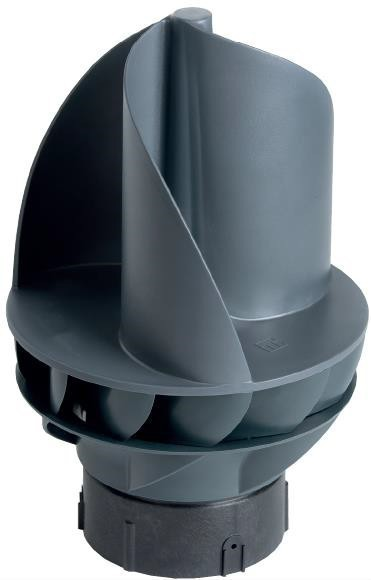 Windventilator Kunststoff + Edelstahl